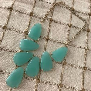 Harlow Statement Necklace In 'Chalcedony'